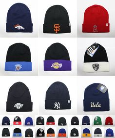 6389c34dcf0 Official Sports Team Embroidered Knit Beanie Hat Cap Apparel NFL NBA MLB  NHL New