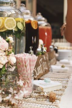 Baby Love Shower Mania! Haylie Duff's Drink Station at her Baby Shower!