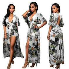 d1e1a2ca539 Long Sleeve Floral Printed V-neck Short Pant Long Jumpsuits New Design  Women Autumn Winter Rompers Party Overall Plus Size XXXL