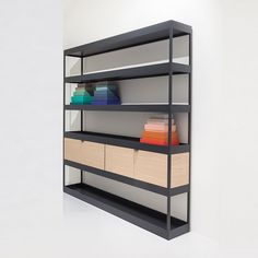 New Order vertical open shelf with trays by Hay designed by Stefan Diez…