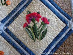 Dar's Patchwork Garden Nice background quilting