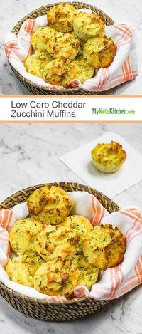 Low Carb Cheddar Zucchini Muffins (Nut Free, Keto, Gluten Free, Grain Free)