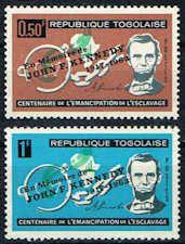 Togo #473 - 474 Stamps - Abraham Lincoln Stamps Overprinted JFK - AF TG 473 to 474-1
