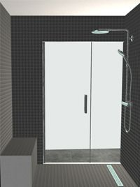 3d ontwerpen badkamers stoomdouche met zitbank en regendouche 180 x 90cm
