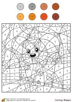 coloriage magique cm1 ecureuil