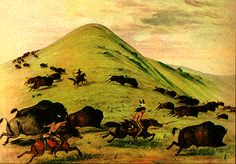 "1.22 ""Buffalo Chase"" by George Catlin.  (Smithsonian Institution [#42,094-D])"