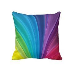 Rainbow throw pillows!