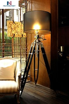 Royal Marine Tripod Floor Lamp Restoration Hardware Floor Lamps Nautical Home Decorating