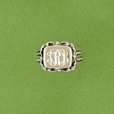 Preppy Monogramed - Monogrammed Ring