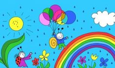 Bogyó és Babóca 1. (A szivárvány) My Teacher, Colouring Pages, Tweety, Snoopy, Clip Art, Cartoon, Make It Yourself, Education, Drawings