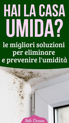 #casa #umidità #diy #stiledonna Hacks Diy, Home Hacks, Cleaning Hacks, Desperate Housewives, Natural Cleaning Products, Diy Bedroom Decor, Home Decor, Diy Crafts To Sell, Problem Solving