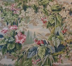 1940's Vintage Wallpaper  Beautiful Scenic by HannahsTreasures, $14.00