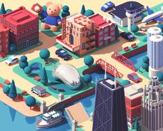 Lyft / Chicago designed by Guillaume Kurkdjian. Connect with them on Dribbble; the global community for designers and creative professionals. Web Design, Tool Design, Game Design, Chicago Poster, Chicago Usa, Low Poly Games, Branding, Talent Management, Saint Charles