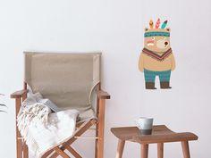 Designfolie Tattoo - Indianerwelt Bär für dein Wandtattoo 40cm