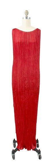 Fortuny Cinnamon Silk Delphos Tea Gown