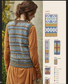 Fair Isle Knitting Patterns, Fair Isle Pattern, Knitting Charts, Knitting Stitches, Knitting Designs, Hand Knitting, Fair Isle Chart, Norwegian Knitting, Knit Vest Pattern