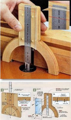 DIY Height Gauge - Marking Tips, Jigs and Techniques | http://WoodArchivist.com
