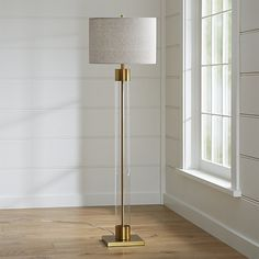 Avenue Brass Floor Lamp | Crate and Barrel