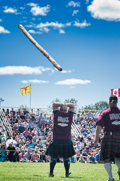 Caber Toss Heavy Events at Highland Games in Fergus, Ontario Canada Aug 10  © 2013 McLaren Photographic LLC #McLarenPhotographic #mclarenphotos #HighlandGames  http://www.mclarenphotographic.com
