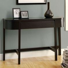 Monarch Specialties Cappuccino Half Round Console And Sofa Table I 254