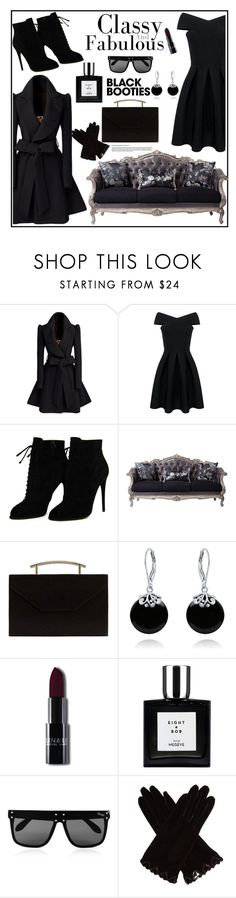 """""""Black Booties-Classy and fabulous"""" by tinatin97 ❤ liked on Polyvore featuring Tom Ford, MANGO, Bling Jewelry, Quay, AGNELLE and blackbooties"""
