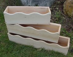 """570 Series - Scalloped Cedar Window Boxes.  Available in 3 sizes (24"""", 30"""", 36"""").  Wonderful addition to any home for gardening, storage, or home decor purposes.  Can purchase in 1 of 17 colors for an additional charge.  To check out our wooden products please make sure to find us at www.coopersmithandson.com as well as Facebook: ow.ly/yJWPh"""