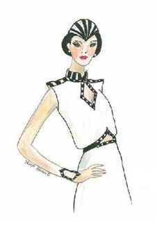 LIZA: Fashion Illustrations, Fashion Sketches, Art Deco Prints. $20.00, via Etsy.