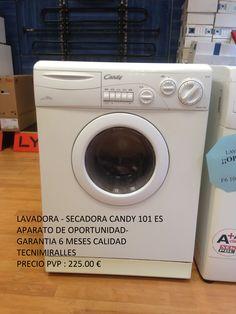 Lavadora - Secadora Candy - Aparato Oportunidad  Modelo : 101 ES  Garantía Tecnimiralles 6 meses  PVP 225 €