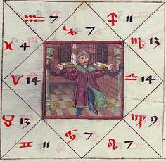 Astrologisch-astronomisch-mantische Sammelhandschrift / Heidelberger Schicksalsbuch Illustrationen: Berthold Furtmeyr und Werkstatt (Thomas Schilt? Cod. Pal. germ. 832 [Regensburg], nach 1491 Folio 37v