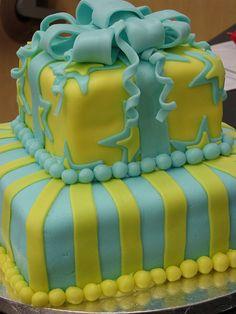 marshmallow fondant present cake by subbywoo, via Flickr