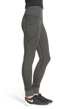 A figure-perfecting tummy-control panel is concealed inside the wide, comfortable waistband of these sleek leggings finished with contoured seaming and ruched ankle cuffs.