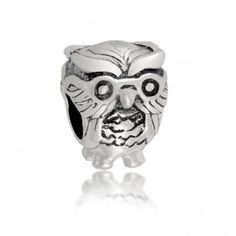 Harry Potter Fan Bead Wise Owl Animal Charm Fits pandora 925 Sterling