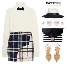 """""""Play With Patterns"""" by monazor ❤ liked on Polyvore featuring Chloé, 10 Crosby Derek Lam, Sergio Rossi, Prada, OLIVIA MILLER, Lanvin, Marco Bicego and Louise & Zaid"""