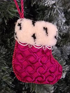 David McCaskill's needlepoint Christmas stocking.