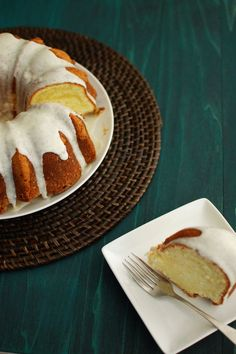 Cream Cheese Pound Cake with Vanilla Bean Glaze.
