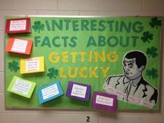 Cool St. Pattys day bulletin board about std awareness etc