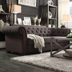 HomeVance Vanderbilt Chesterfield Button Tufted Sofa,