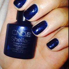 Gorgeous Midnight Swim Shellac #CNDmidnightswim Shellac Nail Colors, Shellac Nails, Gel Nail Polish, Manicure, No Chip Polish, Fall Nails, Spring Nails, Blue Nails, Nail Trends
