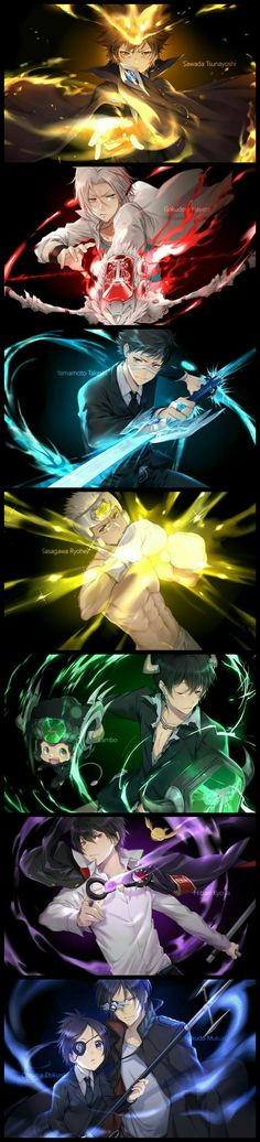 every one in vongola family Hitman Reborn, Reborn Katekyo Hitman, Manga Anime, Otaku Anime, Fan Art, Reborn Anime, Character Art, Character Design, Desenhos Love