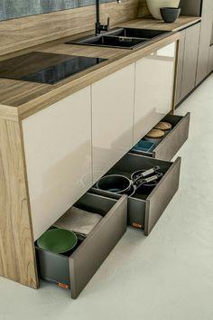 Home Decor Kitchen, Kitchen Interior, Kitchen Design, Smart Kitchen, Kitchen Storage, Small Kitchen Remodel Cost, Small U Shaped Kitchens, Cocinas Kitchen, Minimalist Kitchen