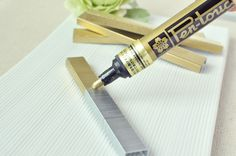 A paint pen can change the color of your staples for invitations, programs etc....awesome idea!