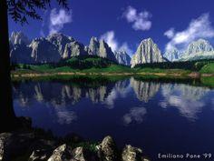 Dolomiti e il lago di Misurina Belluno Dolomiti Veneto Italia