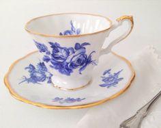TeaCup Duo/Vintage English Bone China Duchess by MariasFarmhouse