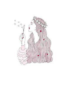 2015 works - maegamimami Soul Art, Love Illustration, Beautiful Anime Girl, Cute Art, Art Images, Art Girl, Illustrations Posters, Amazing Art, Art Drawings