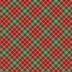 écossais Christmas Plaid Digital Paper: