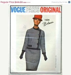 Vogue Paris Original 1634 Balmain  Sz14/34 lot 36 11/15/12