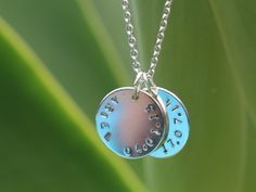 Would love this to commemorate Cooper and Carys   Sterling silver birthdate disc on sterling silver chain