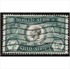 South Africa Scott 68a - SG65, 1935 Silver Jubilee 1/2d used sur le France de eBid