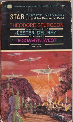 Frederik Pohl, ed., Star Short Novels (1963), cover by Richard Powers