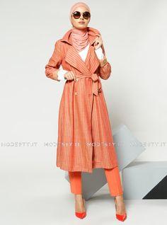 islamische kleidung fuer frauen mymodestystyle.com besuchen sie unsere shop #hijab #abayas #tuekische kleider #abendleider #islamischekleidung  Lined Cloak - Orange - Refka - <p>Fabric Info:</p> <p>70% Viscose</p> <p>30% Linen</p> <br> <p>Unlined</p> <p>Weight: 0.626 kg</p> <p>Measures of 38 size:</p> <p>Height: 110 cm</p> <p>Bust: 102 cm</p> <p>Waist: 96 cm</p> <p>Hips: 120 cm</p> - SKU: 230008. Buy now at http://muslimas-shop.com/lined-cloak-orange-refka.html
